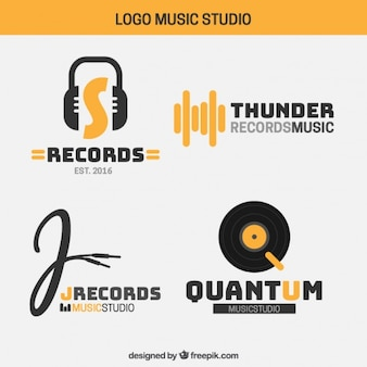 Logos of modern music studio