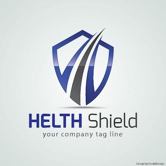 Logotipo escudo de la salud