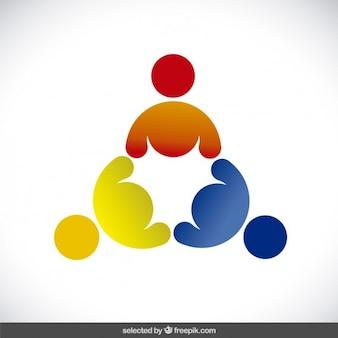 Logotype made with three human avatars