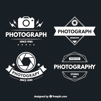 Logotypes of photography in vintage design