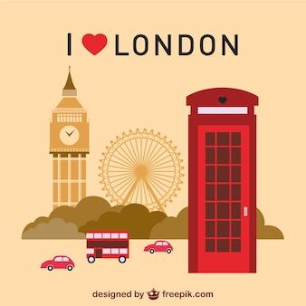 ロンドンのランドマークを設定する