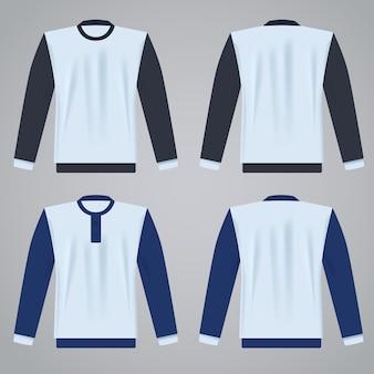 Long sleeved t-shirt template