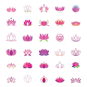 Lotus logo set