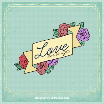 Love background with floral design