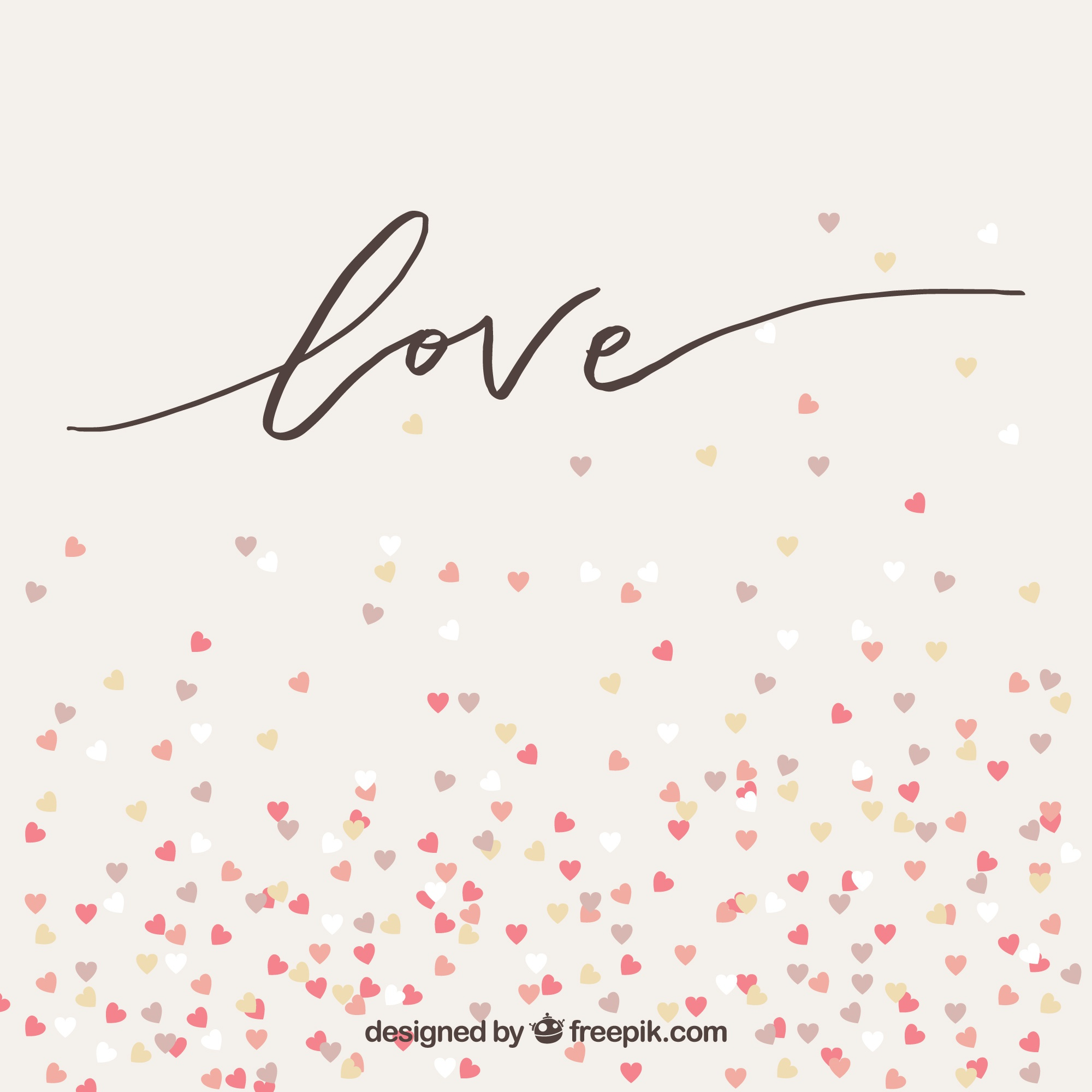 Love background with little hearts
