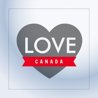 Love canada with heart