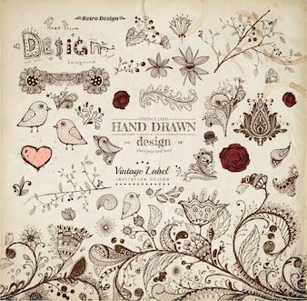 Love ornamental flourish vignette engraving