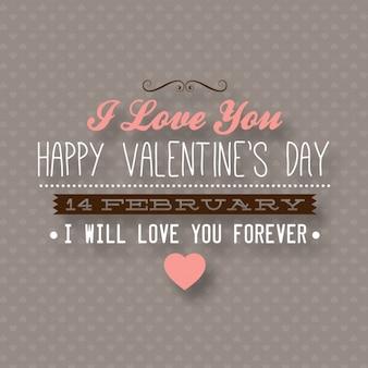 装飾的なバレンタインのラベルの装飾を愛する