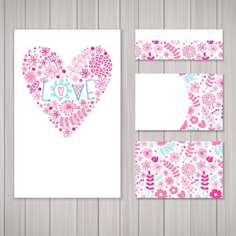 Love stationery design