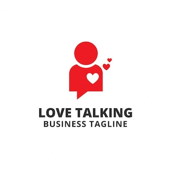 Love talking logo