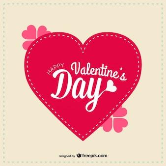 Love vector Ai greeting card