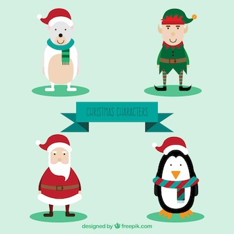 Lovely and funny christmas characters pack