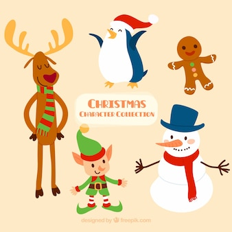 Lovely and happy christmas characters