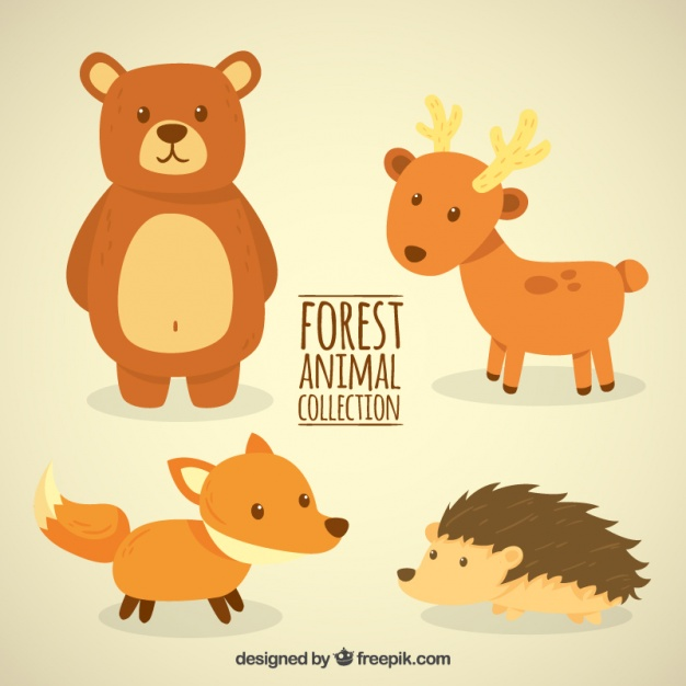 Lovely and little forest animals