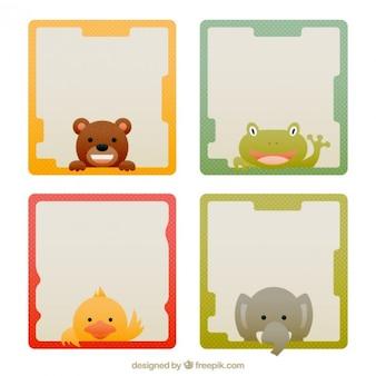 Lovely animal colored frames