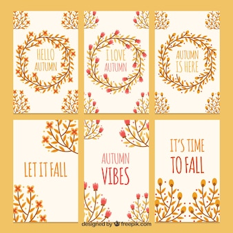 Lovely autumn cards with elegant style