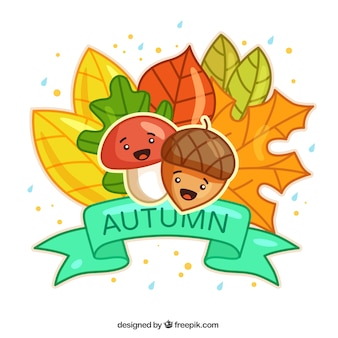 Lovely autumn illustration