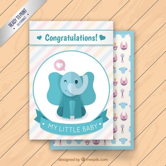 Lovely baby elephant card