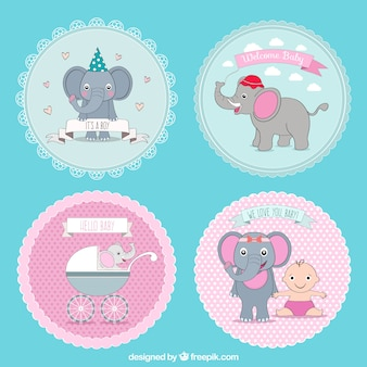Lovely baby shower badges collection