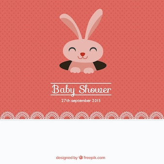Lovely baby shower card with a bunny