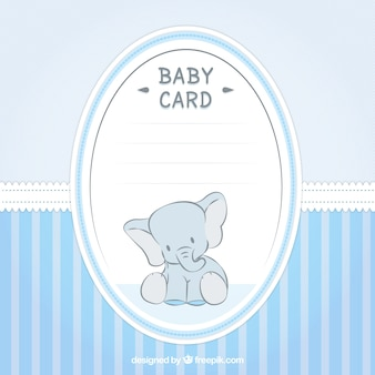 Lovely baby shower card with an elephant