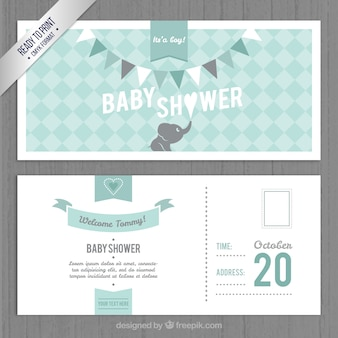 lovely baby shower invitation template