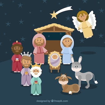 Lovely background of nativity scene