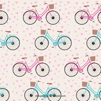 Lovely bicycles pattern