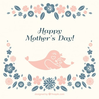 Lovely birds mother's day card