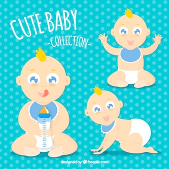Lovely blond baby collection