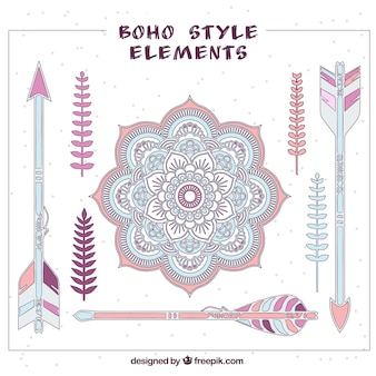 Lovely boho style elements
