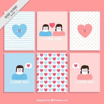 Lovely cards with cute drawings