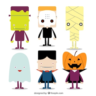 Lovely characters of halloween