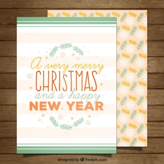 Lovely christmas card in floral style