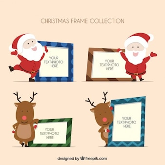Lovely christmas characters photo frames
