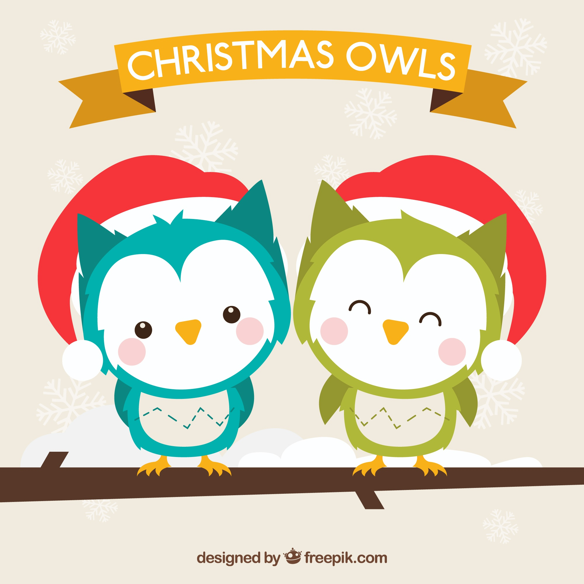 Lovely christmas owls