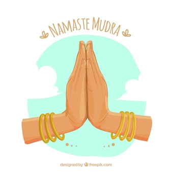 Lovely composition with namaste gesture