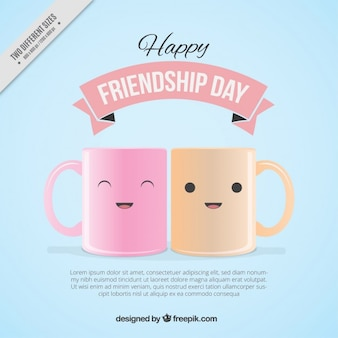 Lovely cups friendship day background