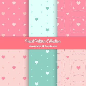 Lovely decorative hearts pattern pack