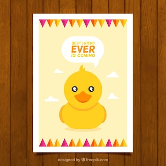 Lovely duck card