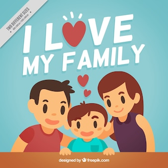 Lovely family background
