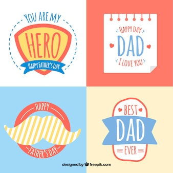 Lovely father's day stickers