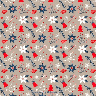 lovely floral christmas pattern