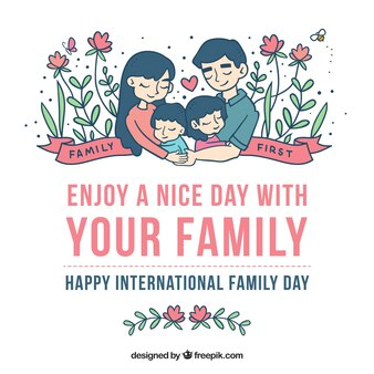 Lovely floral family day background