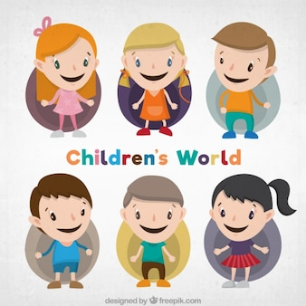Lovely kid characters