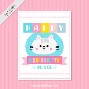 Lovely kitten birthday card