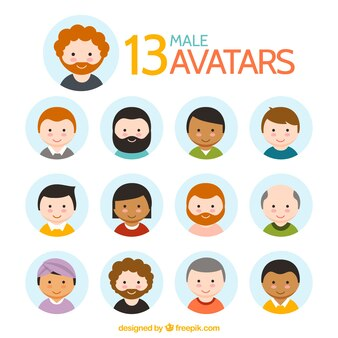Lovely male avatar collection