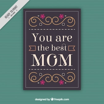 Lovely mother's day card with emotive phrase