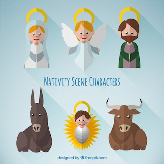 Lovely nativity scene characters pack