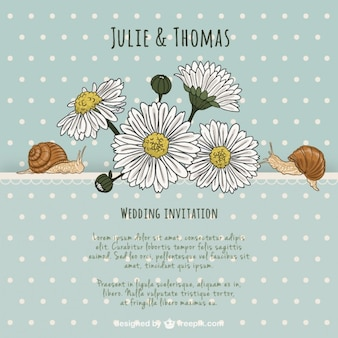 Lovely natural wedding invitation